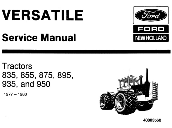 Ford New Holland 835, 855, 875, 895, 935, 950 Tractors