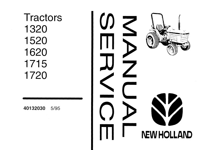 New Holland 1320, 1520, 1620, 1715, 1720 Tractors Service