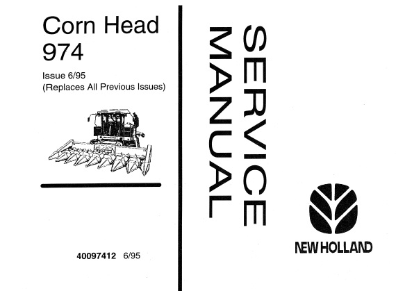 New Holland 974 Corn Head Service Repair Manual