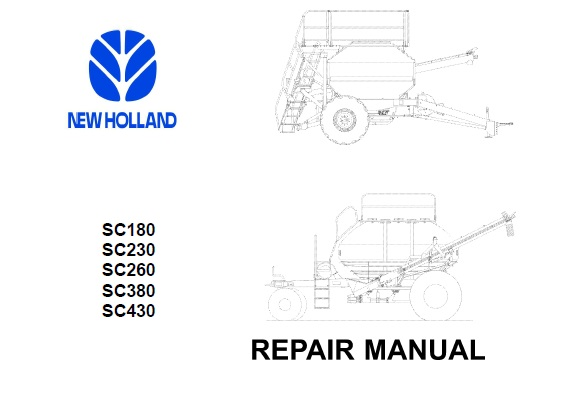 New Holland SC180 , SC230 , SC260 , SC380 , SC430 Air Cart