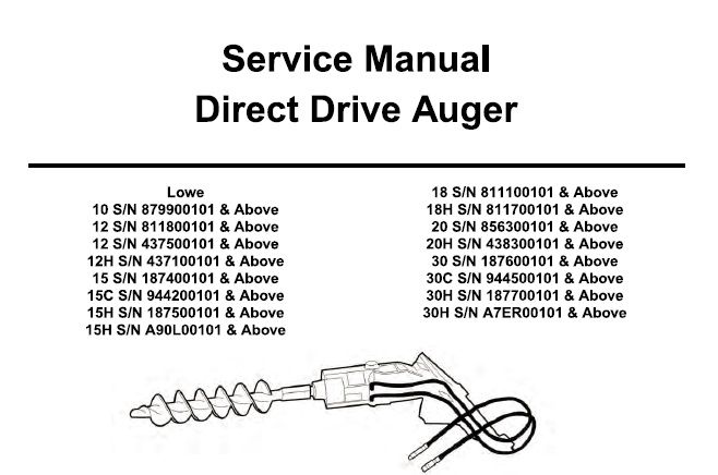 Bobcat Direct Drive Auger Service Repair Manual #2