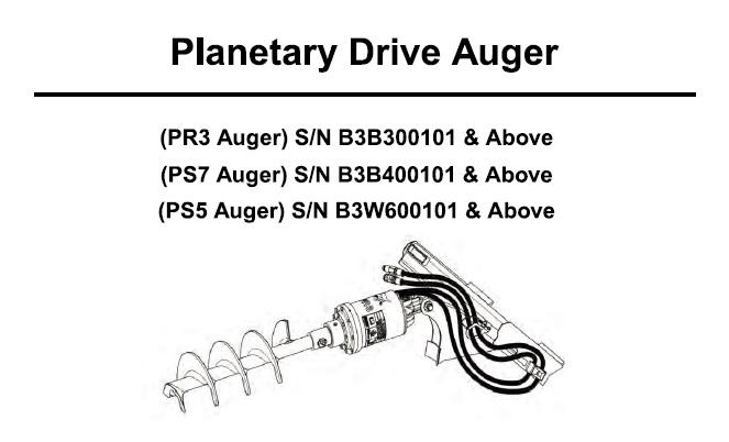 Bobcat PR3 , PS7 , PS5 Planetary Drive Auger Service