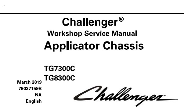 Challenger TG7300C , TG8300C Applicator Chassis Service