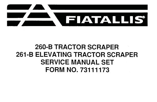Fiat Allis 260-B Tractor Scraper & 261-B Elevating Tractor