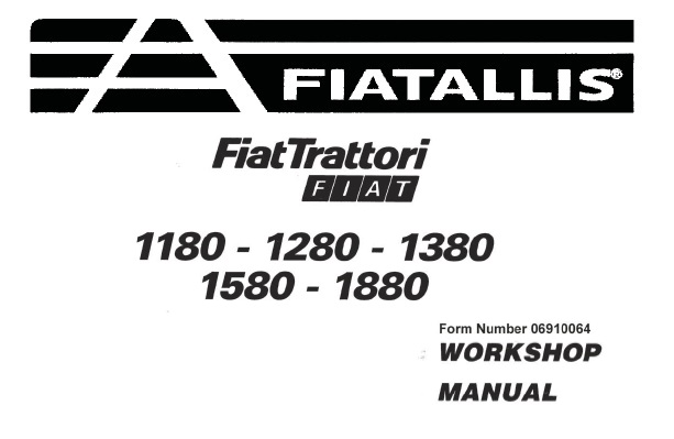 Fiat FiatTrattori 1180 – 1280 – 1380 – 1580