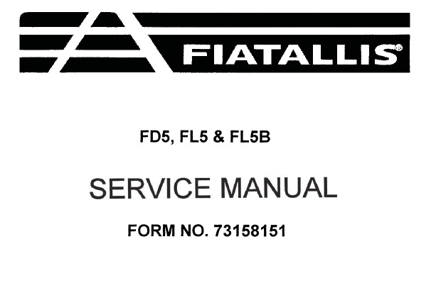 FiatAllis FD5 , FL5 & FL5B Crawler Dozer Service Repair