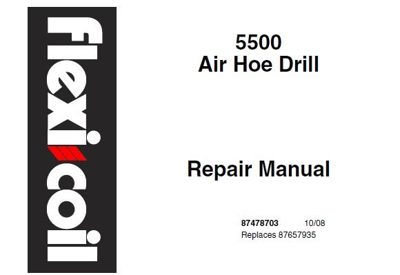 Flexi Coil 5500 Air Hoe Drill Service Repair Manual
