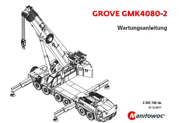 Manitowoc Grove GMK4080-2 Crane Wartungsanleitung (DE