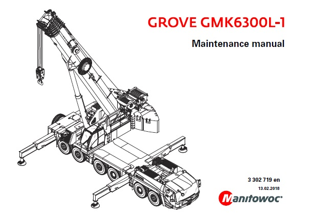 Manitowoc Grove GMK6300L-1 Maintenance Manual