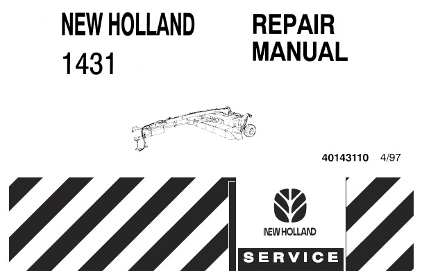 New Holland 1431 Disc Mower-Conditioners Service Repair