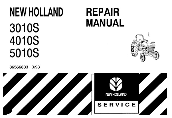 New Holland 3010S , 4010S , 5010S Tractor Service Repair