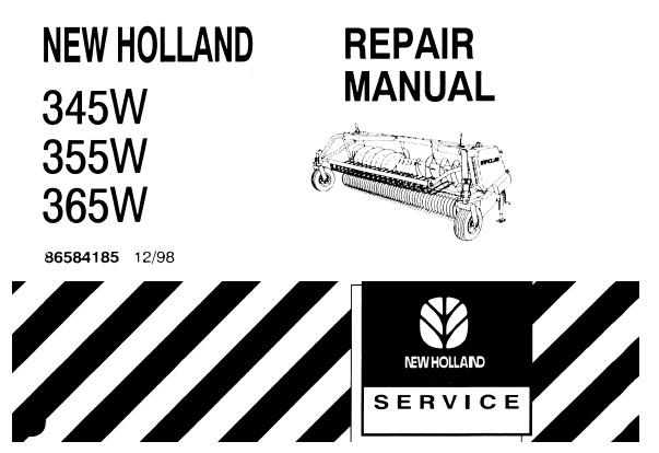 New Holland 345W , 355W , 365W Forage Head-Windrow Pickup
