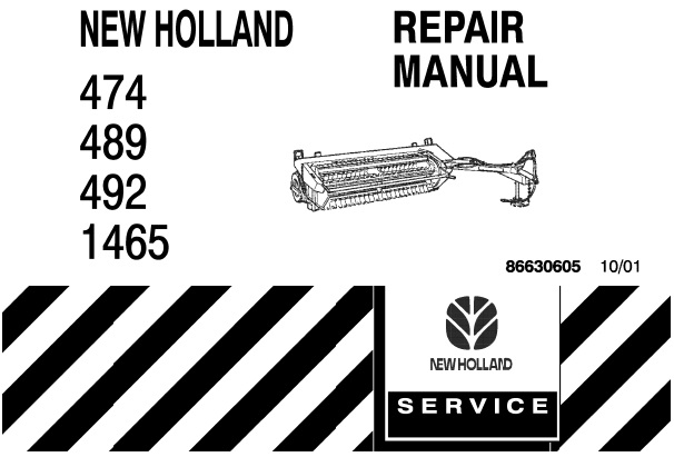 New Holland 474 , 489 , 492 , 1465 Mower-Conditioners