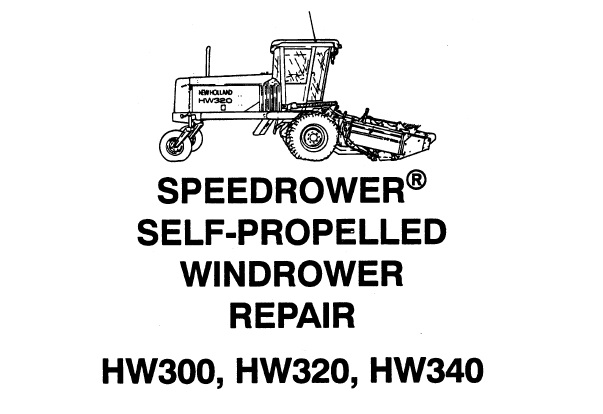 New Holland HW300 , HW320 , HW340 Speedrower Self