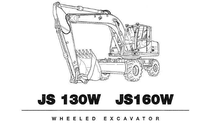 JCB JS130W, JS160W WHEELED EXCAVATOR Operator's Manual