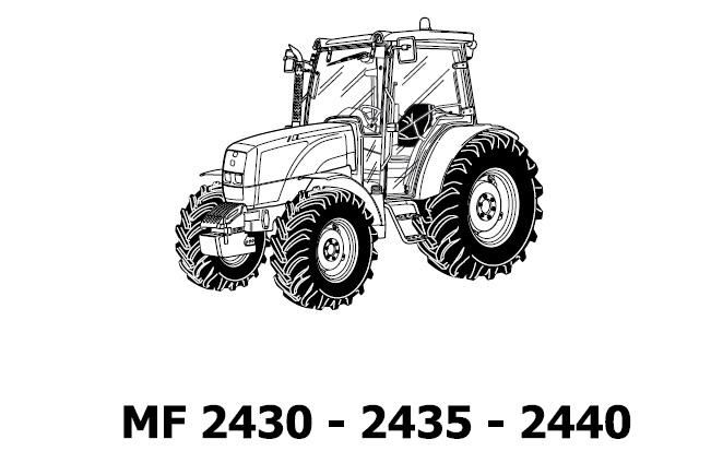 Massey Ferguson MF 2430 , 2435 , 2440 Utility Tractors