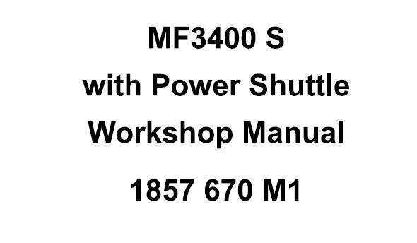 Massey Ferguson MF3400S Series (with Power Shuttle