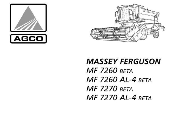 Massey Ferguson MF7260 Beta , MF7260 AL-4 Beta , MF7270
