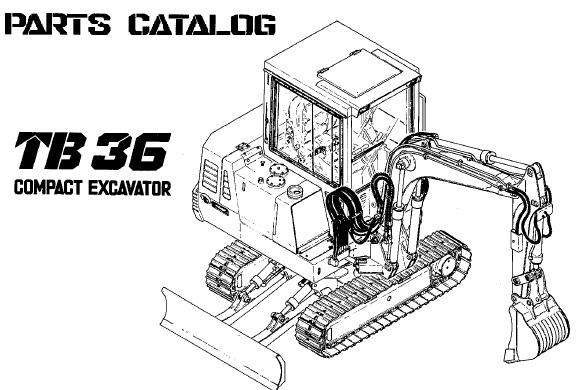 Takeuchi TB36 Compact Excavator Parts Manual