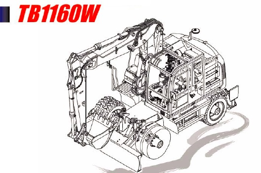 Takeuchi TB1160W Hydraulic Excavator Parts Manual