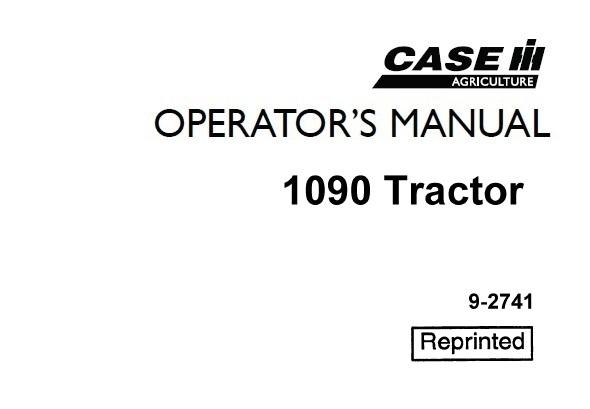 Case IH 1090 Tractors Operator's Manual