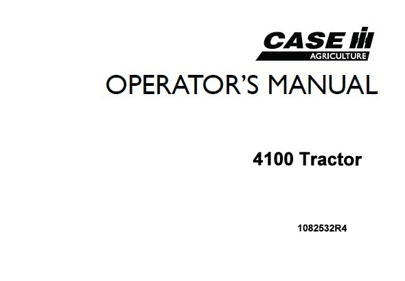 Case IH 4100 Tractor Operator's Manual