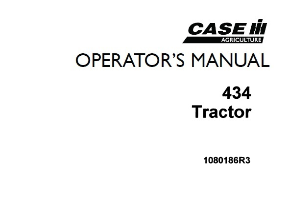 Case IH 434 Tractor Operator's Manual
