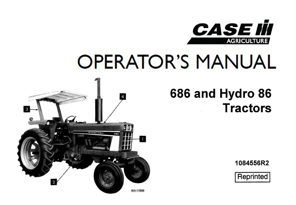 Case IH 686 and Hydro 86 Tractor Operator's Manual
