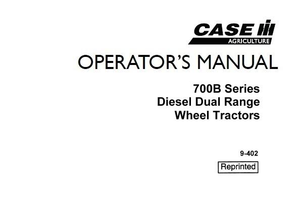 Case IH 700B Series Diesel Wheel Tractors (Dual Range