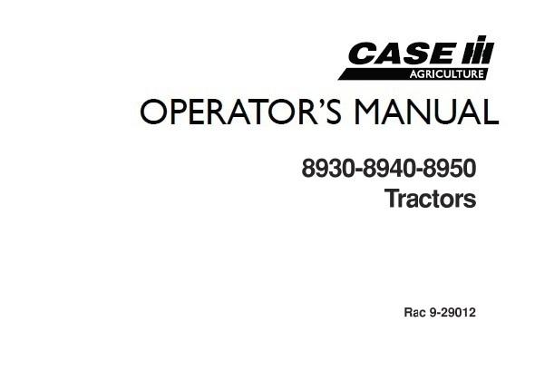 Case IH 8930 – 8940