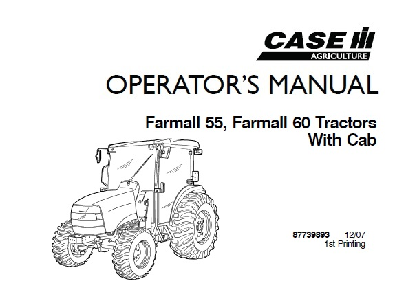 Case IH Farmall 55, Farmall 60 (With Cab) Tractors