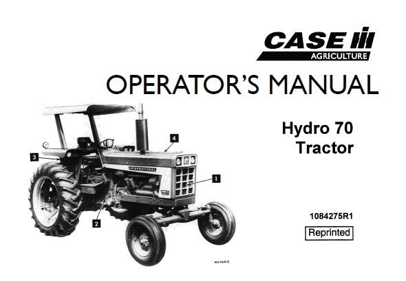 Case IH Hydro 70 Tractor Operator's Manual