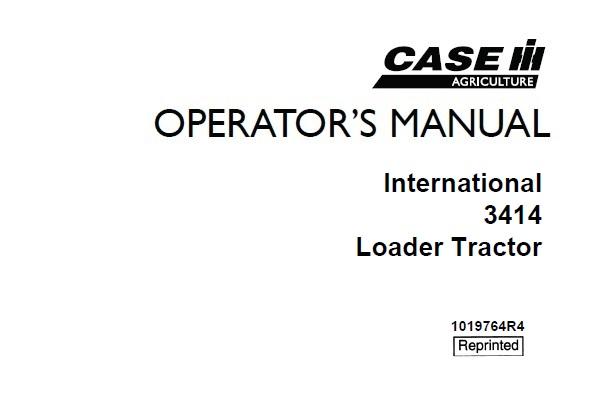 Case IH International 3414 Loader Tractor Operator's