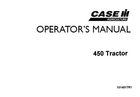 Case IH International 450 Tractors Operator's Manual