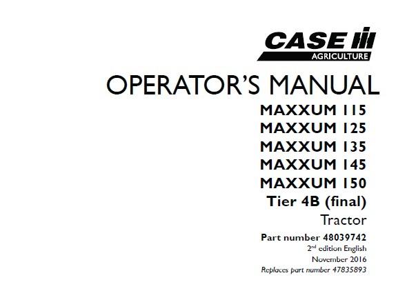 Case IH MAXXUM 115 , MAXXUM 125 , MAXXUM 135 , MAXXUM 145