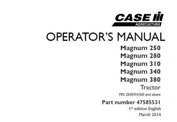 Case IH Magnum 250 , Magnum 280 , Magnum 310 , Magnum 340