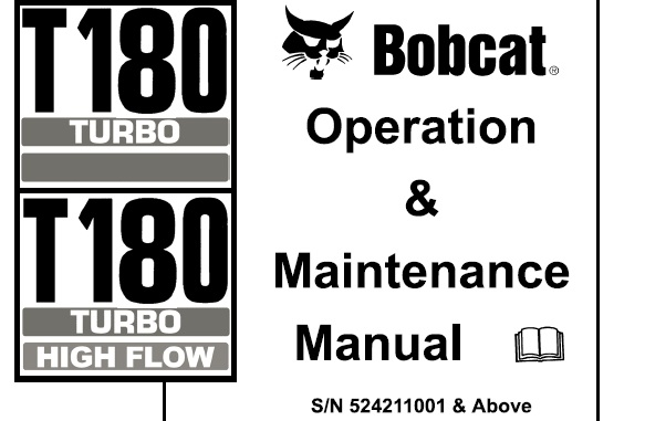 Bobcat T180 Turbo / Turbo High Flow Compact Track Loader
