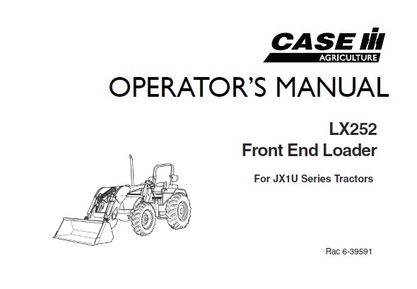 Case IH LX252 Front End Loader (For JX1U Series Tractors