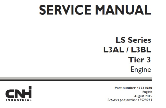 Case New Holland LS Series L3AL / L3BL Tier 3 Engine