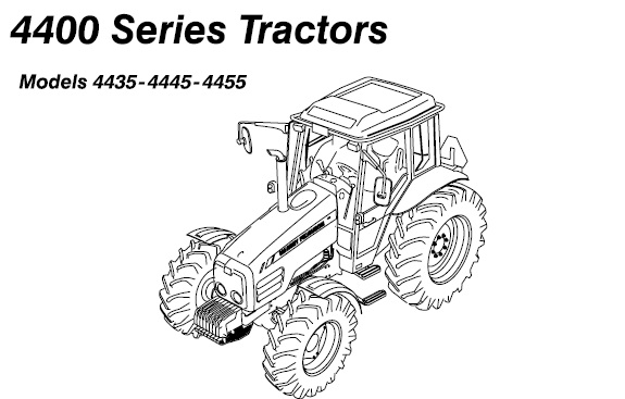 Massey Ferguson MF 4435, 4445, 4455 Tractors Operation and