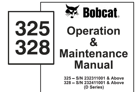 Bobcat 325 , 328 (D Series) Hydraulic Excavator Operation