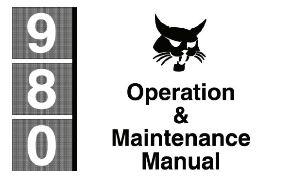 Bobcat 980 Skid Steer Loader Operation and Maintenance