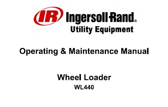 Bobcat WL440 Wheel Loader Operation and Maintenance Manual