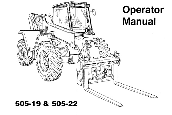 JCB 505-19, 505-22 Loadall Operators Manual
