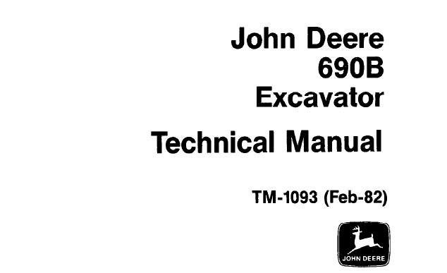 John Deere 690B Excavator Technical Manual (TM1093