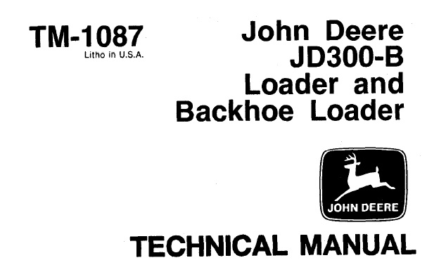 John Deere JD300-B Loader & Backhoe Loader Technical