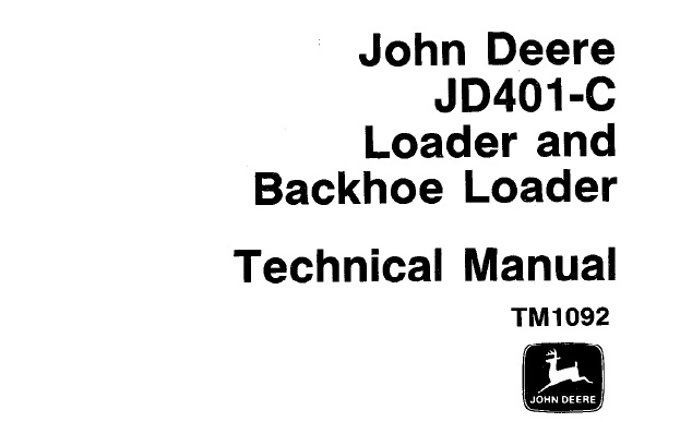 John Deere JD401-C Loader & Backhoe Loader Technical