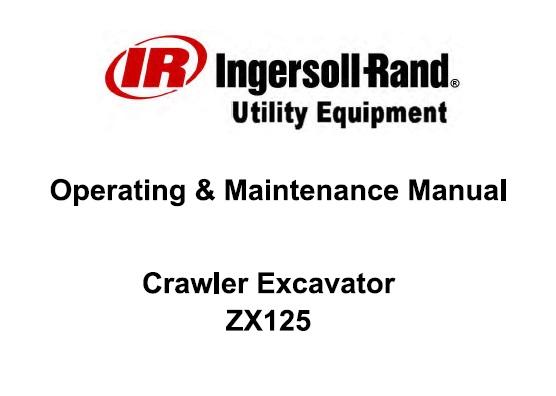 Bobcat ZX125 Crawler Excavator Operation and Maintenance