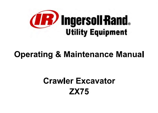 Bobcat ZX75 Crawler Excavator Operation and Maintenance