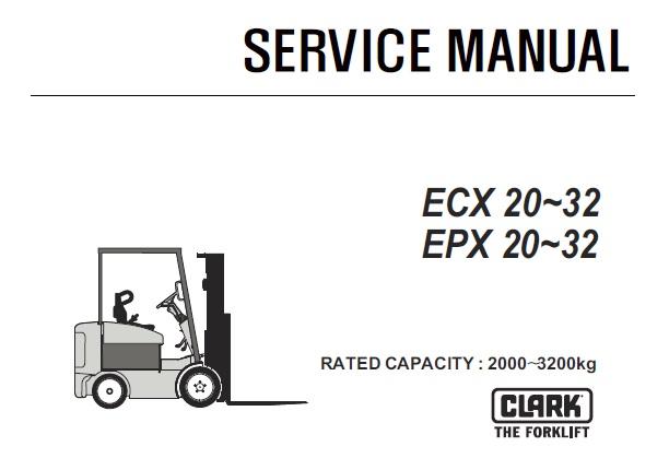 Clark ECX20-32, EPX20-32 Forklift (ECX360-EPX360) Service